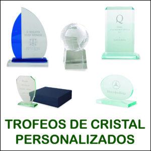 trofeos de cristal personalizados