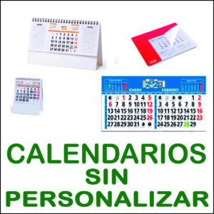 Calendarios sin personalizar